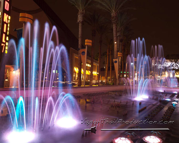 fountains at nigh