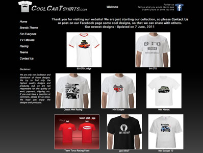 Cool Car T-shirts